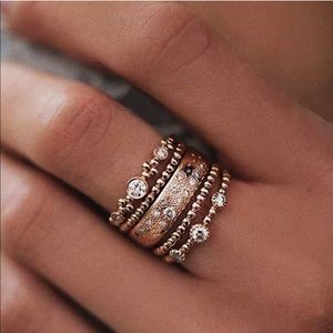 Jewelry - 5🌟 Rated💎 Rose Gold Boho Ring Stack